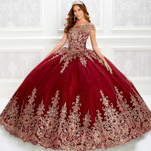 princesa by Ariana Vara Beautiful quinceanera dress with jewel neckline