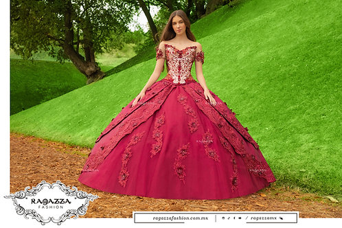 DV50-550 TWO PIECE FLORAL QUINCEANERA DRESS