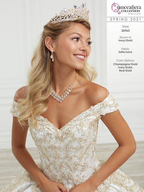 QUINCEANERA BY HOUSE OF WU 26963