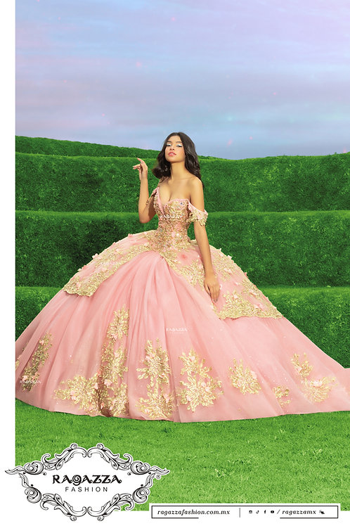 DV55-555 BLUSH PINK QUINCEANERA DRESS BY RAGAZZA