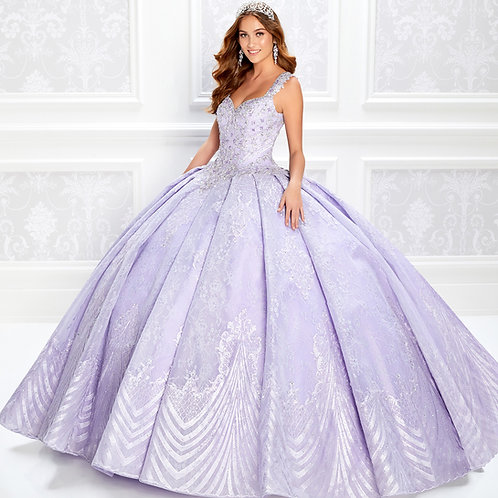 Princesa by Ariana Vara Lace quinceanera dress with stone accents