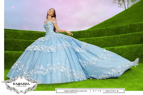 DV53-553 2 PIECE SKY BLUE QUINCEANERA DRESS