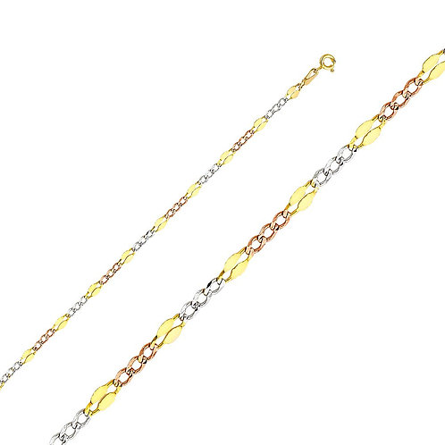 14k Yellow Gold 3.7-mm Stamped Figaro Chain Necklace