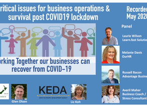 Critical issues for business operations & survival post COVID19 lockdown discussed by expert panel