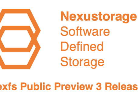 Today we have proud to announce the availability of the third public preview release of Nexfs!