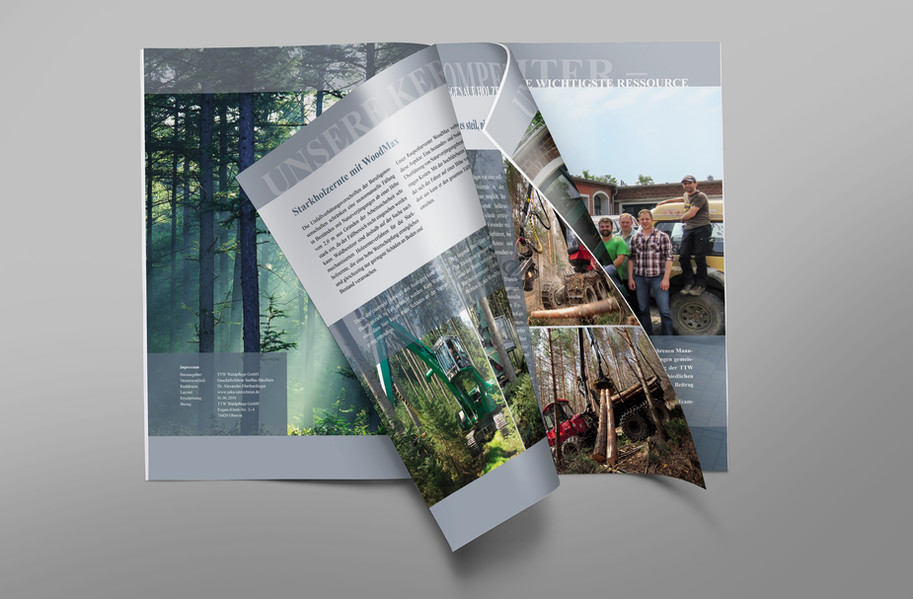 Imagebroschüre für die TTW Waldpflege GmbH