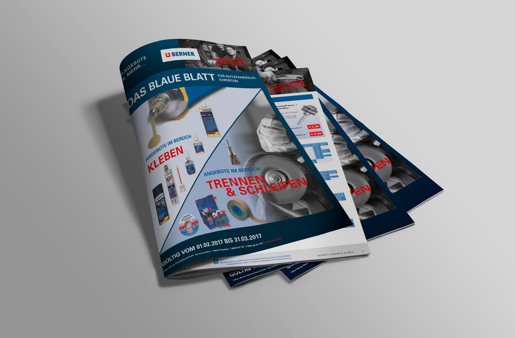Monatliches Angebotsblatt der Albert Berner Deutschland GmbH