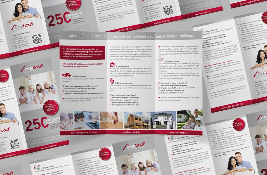 DIN lang Flyer für interbaufi GmbH & Co. Finanz KG