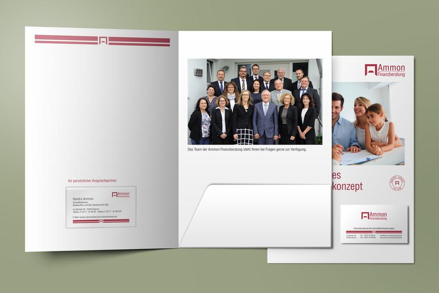 Präsentationsmappe für die Ammon Finanzberatung GmbH