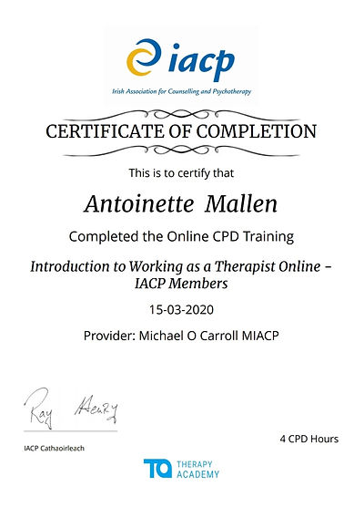 certificate in online counselling
