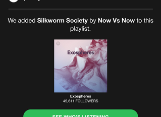 """Spotify features Now vs. Now's """"Silkworm Society"""" on Playlist 'Exospheres'"""