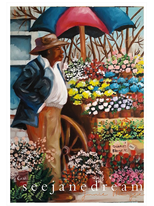 Flower Seller 2 1946 NPrint