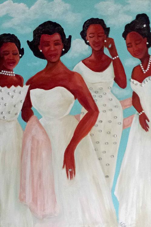 Glamour 1950 Mamie Original Painting