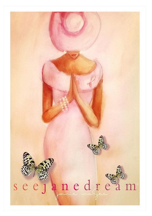 Pink Prayer Alone Cards