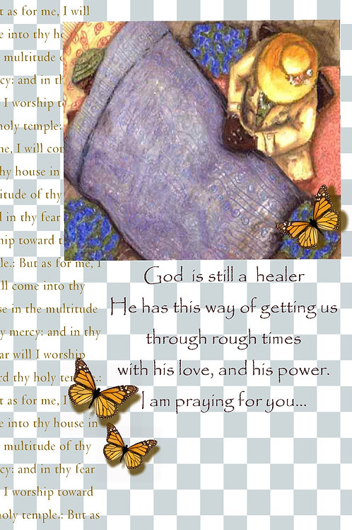 GraceWork Women Sick Prayer Cards