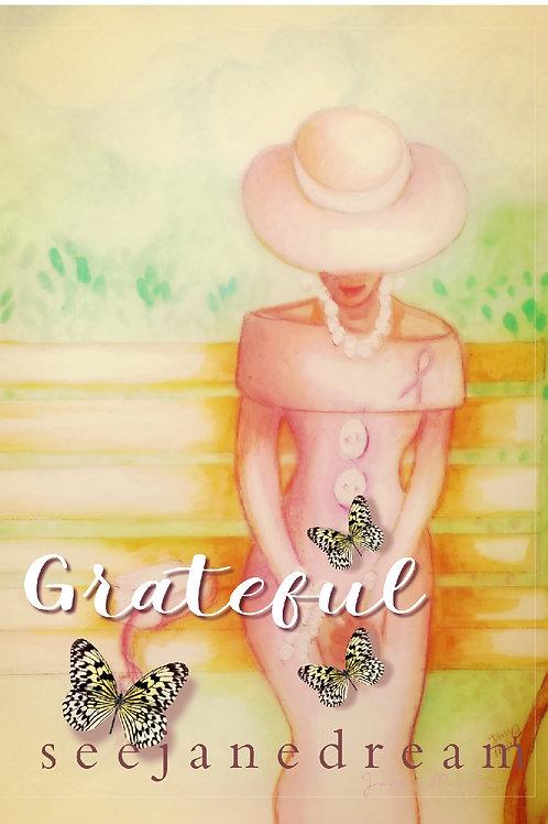 Pink Prayer Grateful Print