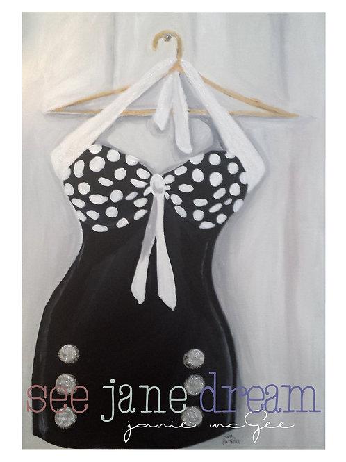 Threadz Black and White Swim
