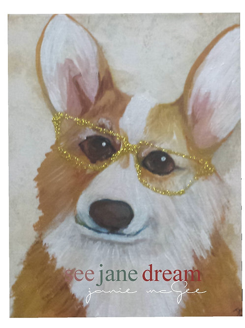 Animal Optics Corgi 2 Greeting Card