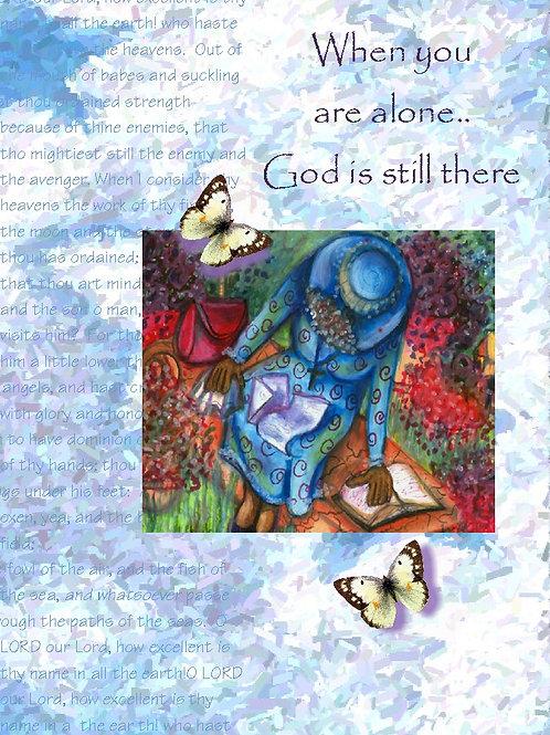 GraceWork Alone Pray Card