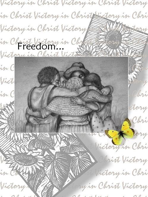 Sunflower Freedom Hug Card