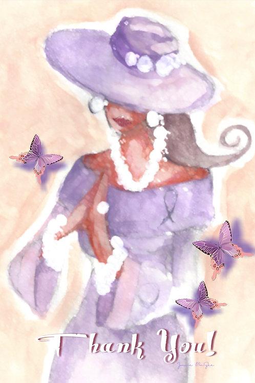 Purple Prayer Heart Alone Cards