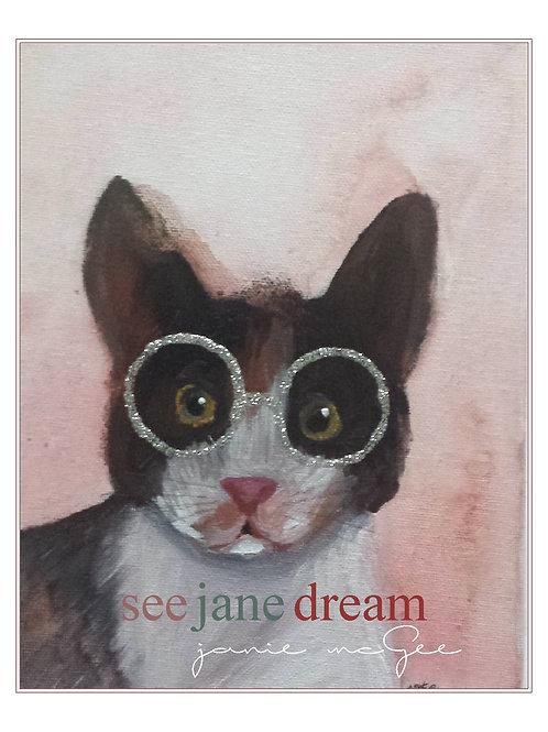 Animal Optics Cat Greeting Card
