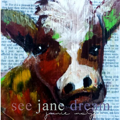 Animal Optics Cow Greeting Card