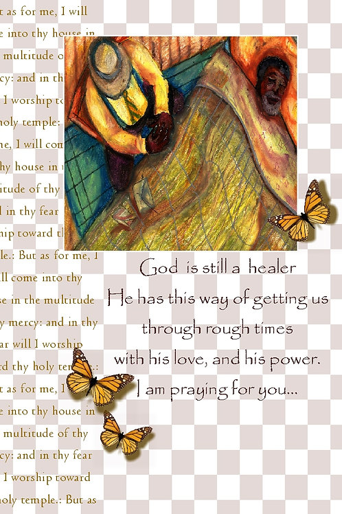 GraceWork Sick Man Prayer Card