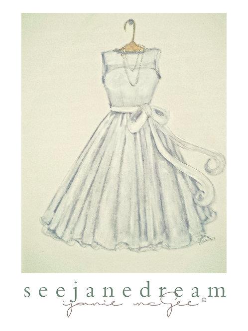 Threadz White Dress