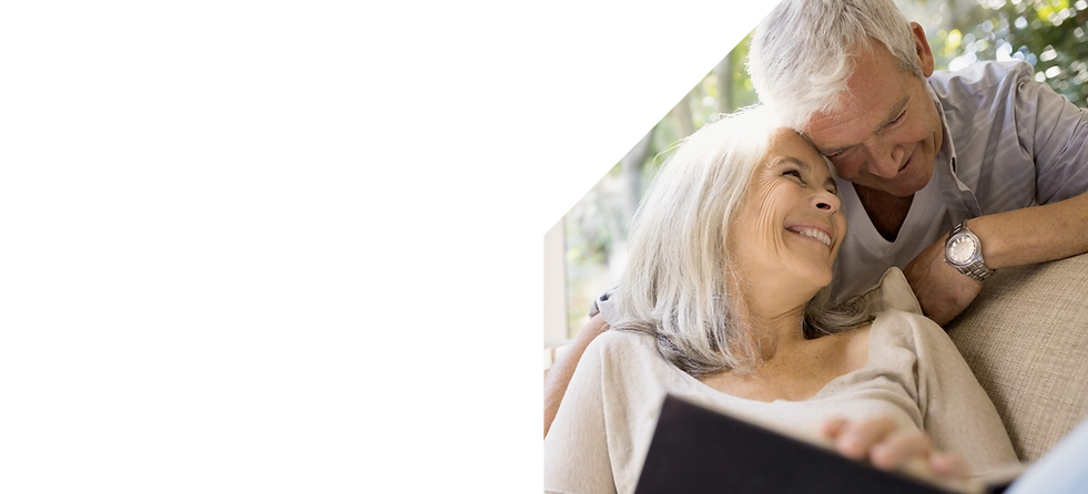 older adult senior couple living safely and independently at home