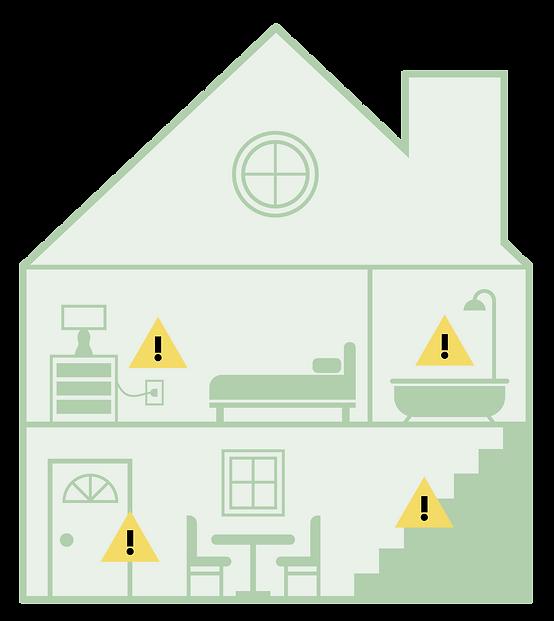Ayaplaces home safety checks house illustration