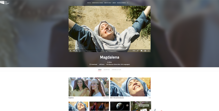Jesus Film Project Magdalena