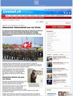 Albanischer Nationalheld war ein Christ
