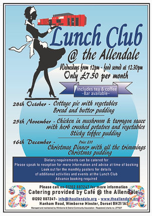 Lunch Club Allendale Poster A5 new amend