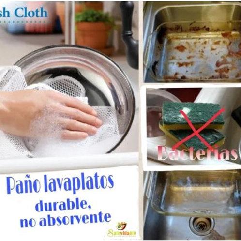 Paño lavaplatos libre de bacterias x2
