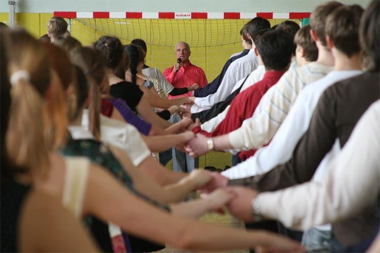 Репетиция полонеза с участниками Венского бала, 2008.