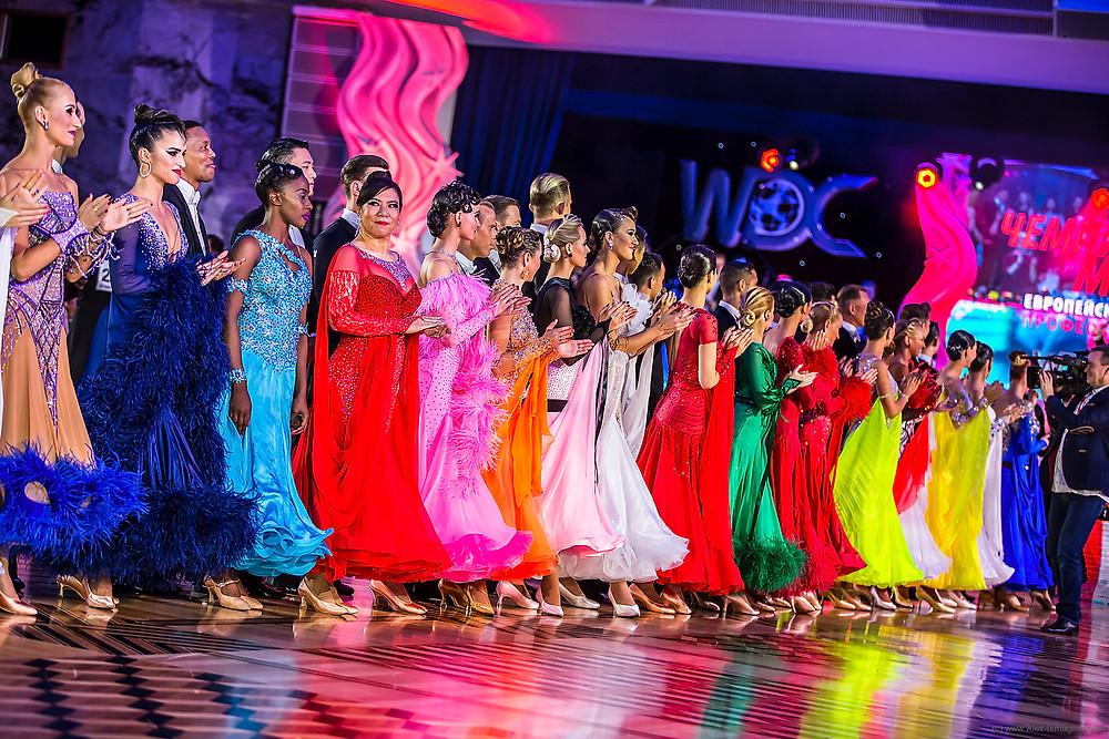 Открытие Чемпионата мира WDC по европейским танцам среди профессионалов