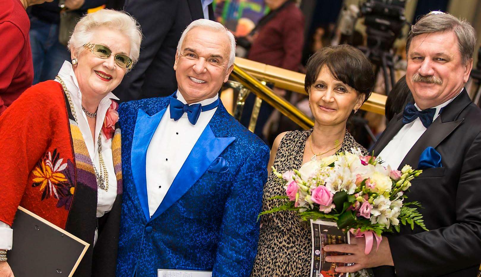 С диктором Советского ТВ Анной Шатиловой и Сергеем и Людмилой Ковалевыми.