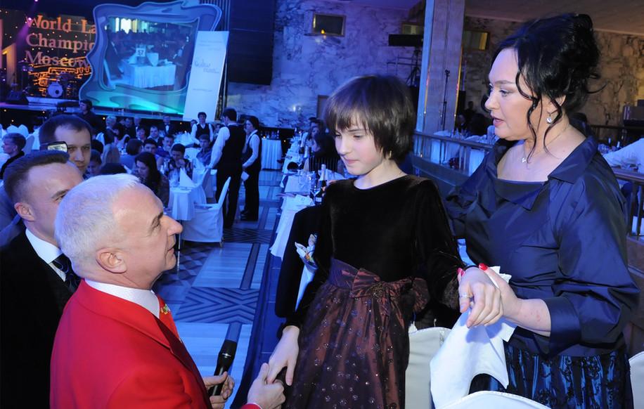С Ларисой Гузеевой, актриса и телеведущая.