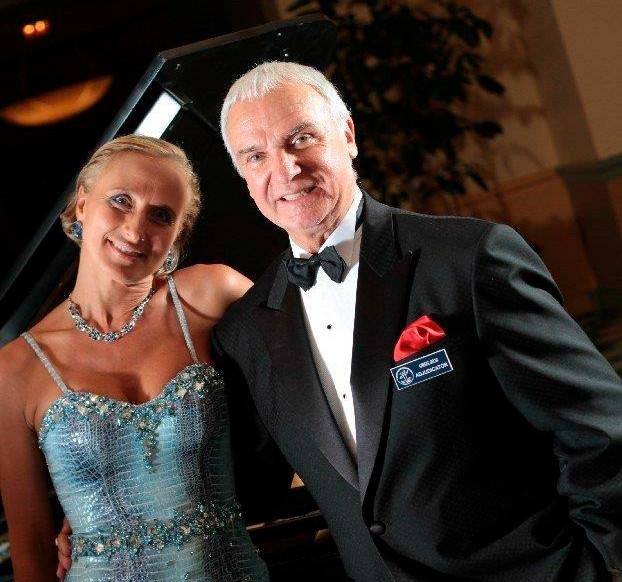 Станислав Попов и Ольга Форапонова, неоднократные судьи Открытого Чемпионата США в Орландо (Флорида).