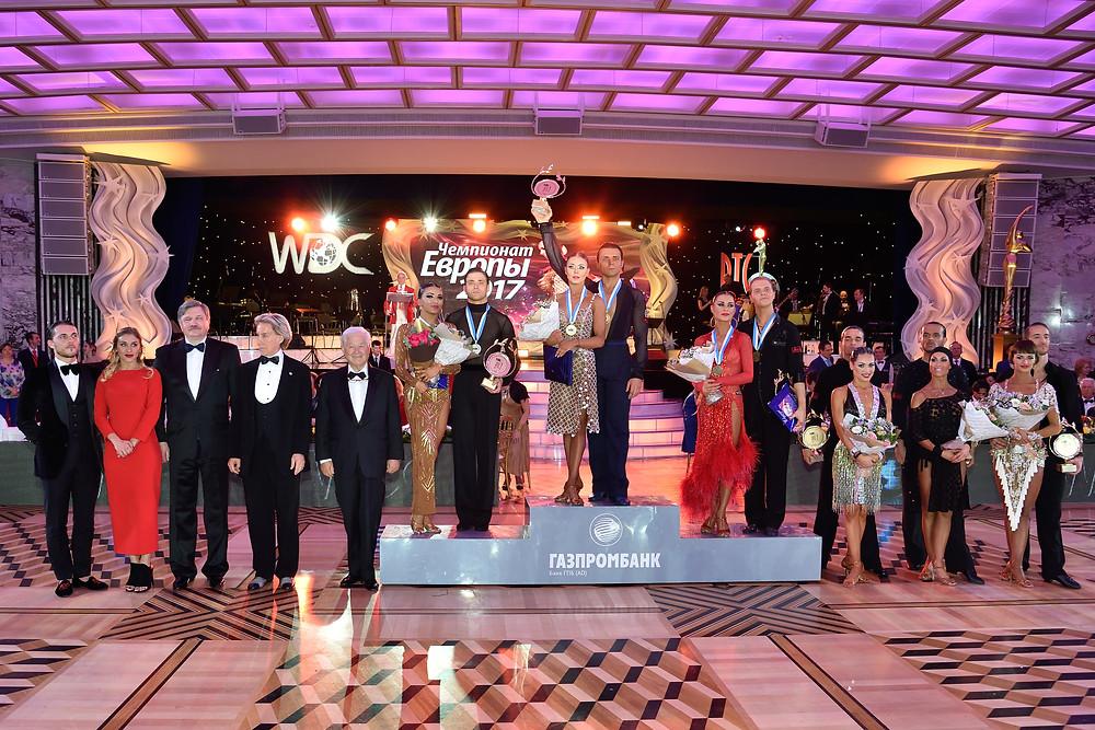 Победители Чемпионата Европы 2017 по латиноамериканским танцам