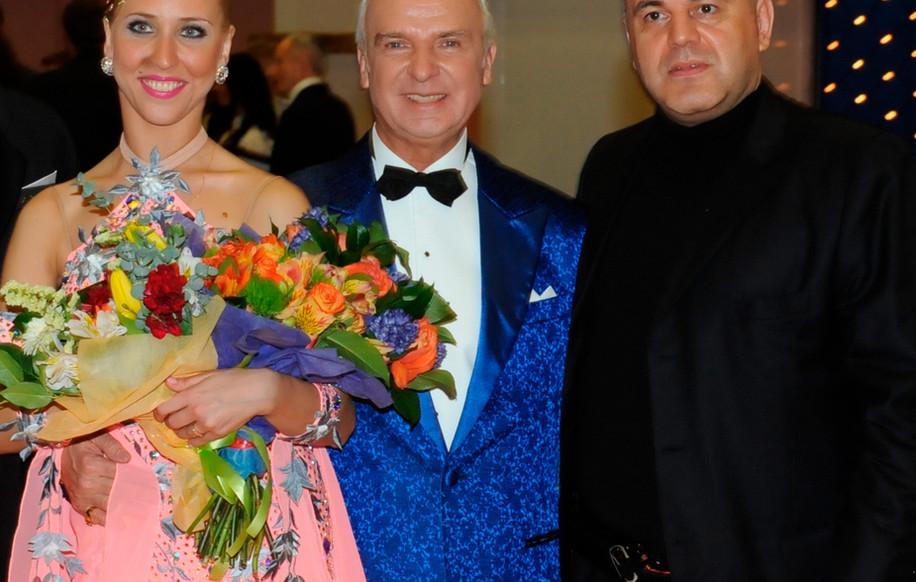 Наталья Чижова, чемпионка России, Станислав Попов и Михаил Мишустин.