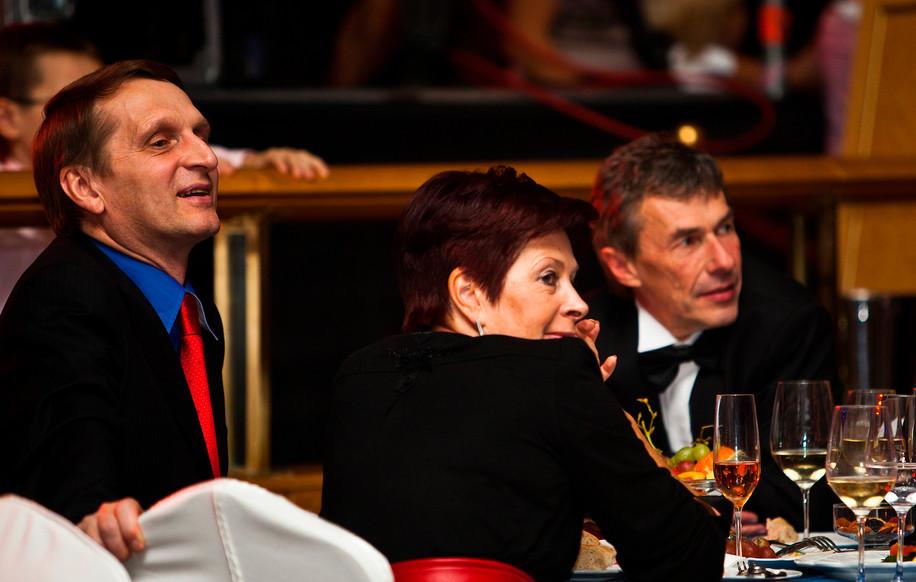 Руководитель Администрации Президента Сергей Нарышкин с женой Татьяной, 2006.