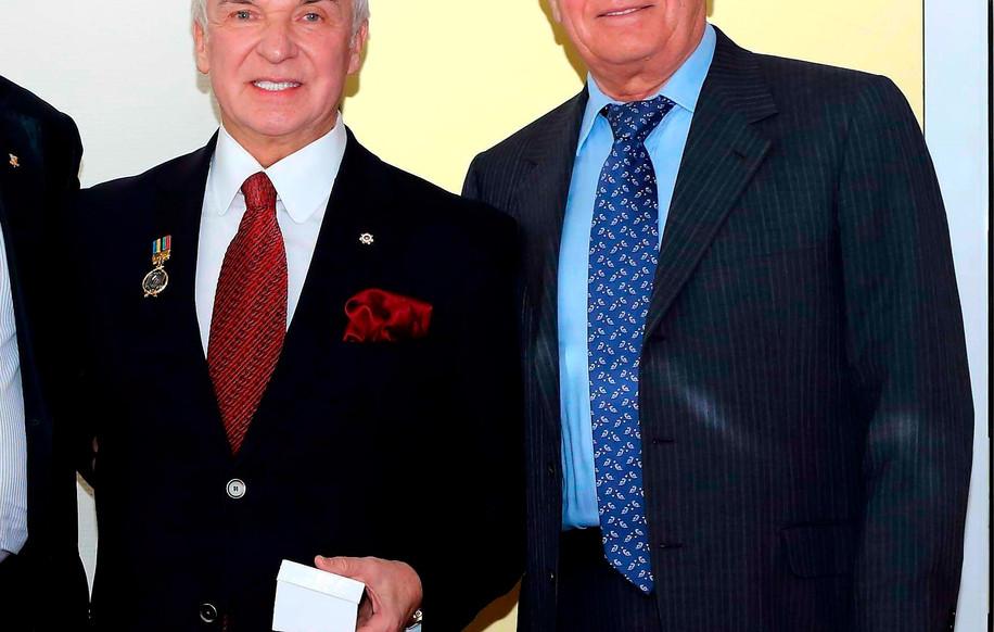 С Президентом Федерации футбола России, замминистром спорта Вячеславом Колосковым.