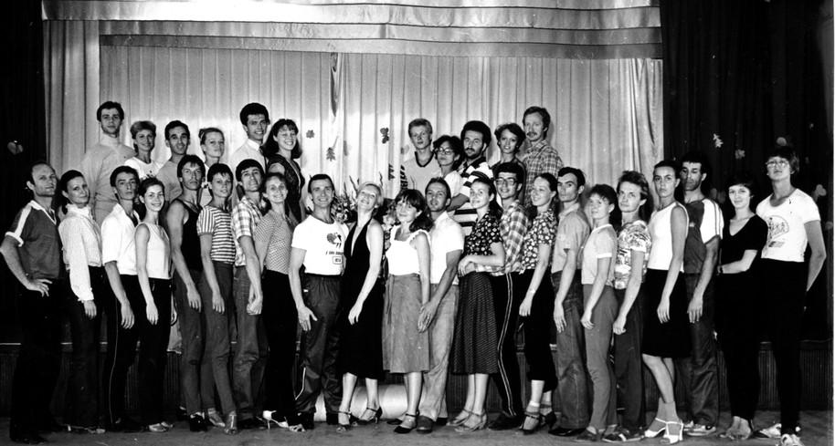 На тренировочных сборах в Полтаве, 1982.