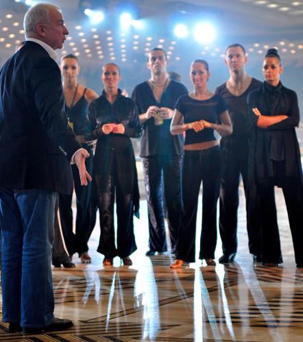 Репетиция в Государственном Кремлевском Дворце.