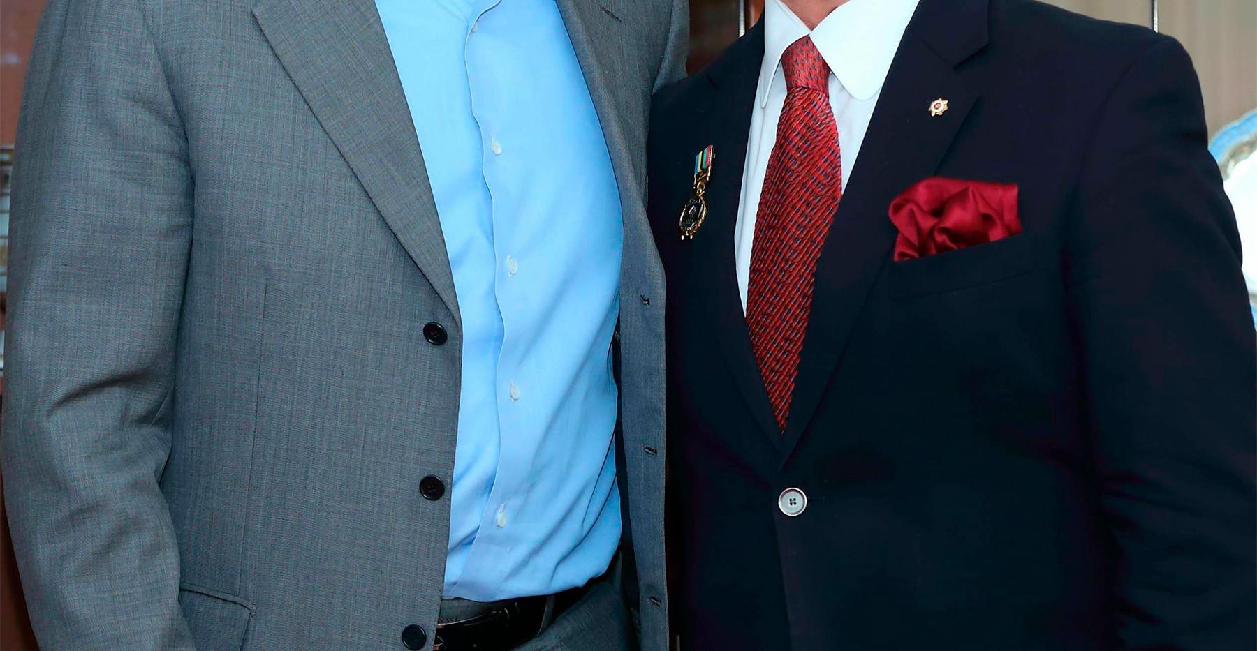 С Президентом Федерации спортивной борьбы России Михаилом Мамиашвили.