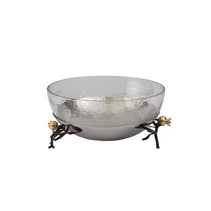 Pomegranate Glass Serving Bowl
