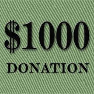 DONATION - $1,000
