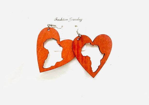 Love Africa Wooden Earrings